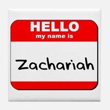 Hello my name is Zachariah Tile Coaster