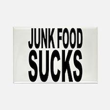 Junk Food Sucks Rectangle Magnet