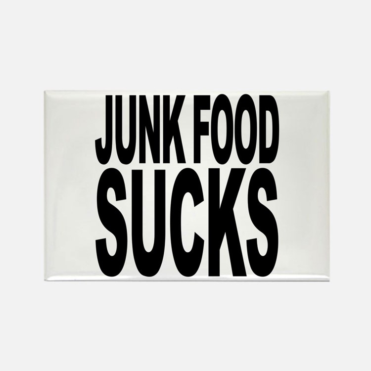 Junk Food Sucks Rectangle Magnet