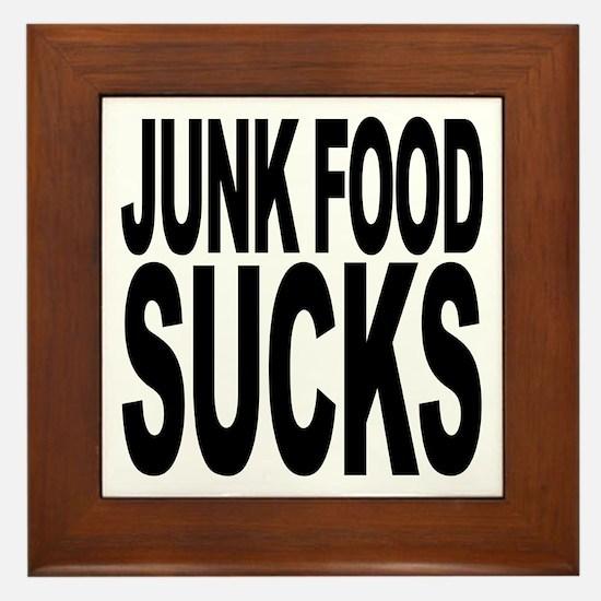 Junk Food Sucks Framed Tile