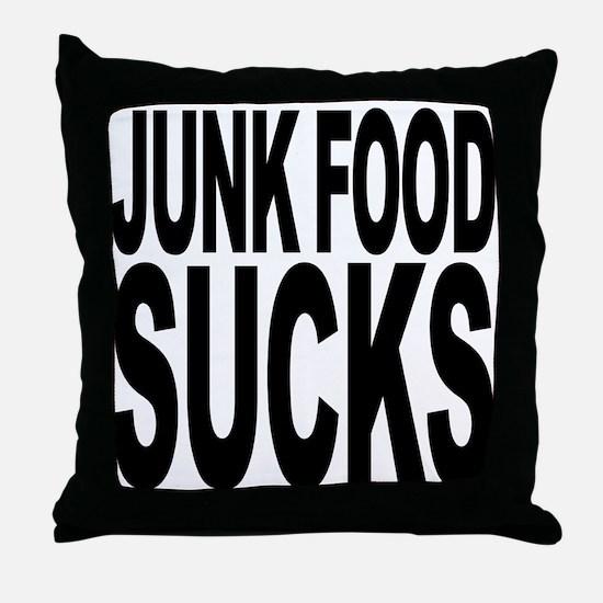 Junk Food Sucks Throw Pillow