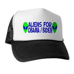 Aliens For Obama / Biden Trucker Hat
