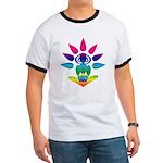 Rainbow Seated Yogi Ringer T