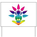 Rainbow Seated Yogi Yard Sign