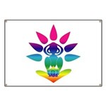 Rainbow Seated Yogi Banner