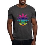 Rainbow Seated Yogi Dark T-Shirt