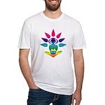 Rainbow Seated Yogi Fitted T-Shirt