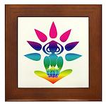Rainbow Seated Yogi Framed Tile