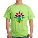 Rainbow Seated Yogi Green T-Shirt