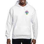 Rainbow Seated Yogi Hooded Sweatshirt