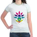 Rainbow Seated Yogi Jr. Ringer T-Shirt
