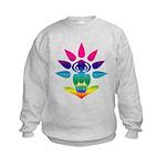 Rainbow Seated Yogi Kids Sweatshirt