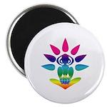 Rainbow Seated Yogi Magnet