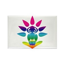 Rainbow Seated Yogi Rectangle Magnet (100 pack)
