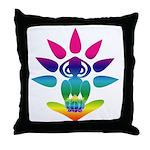 Rainbow Seated Yogi Throw Pillow