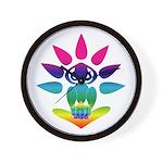 Rainbow Seated Yogi Wall Clock
