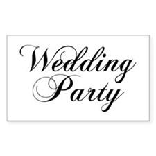 Wedding Party Rectangle Decal
