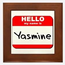 Hello my name is Yasmine Framed Tile