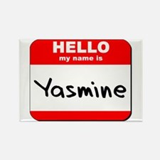 Hello my name is Yasmine Rectangle Magnet
