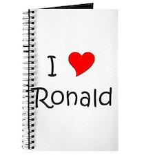 Cute I love ronald reagan Journal