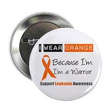 """Leukemia I Wear Orange 2.25"""" Button"""