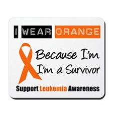 Leukemia I Wear Orange Mousepad