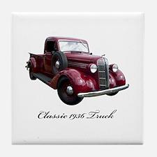 1936 Old Pickup Truck Tile Coaster
