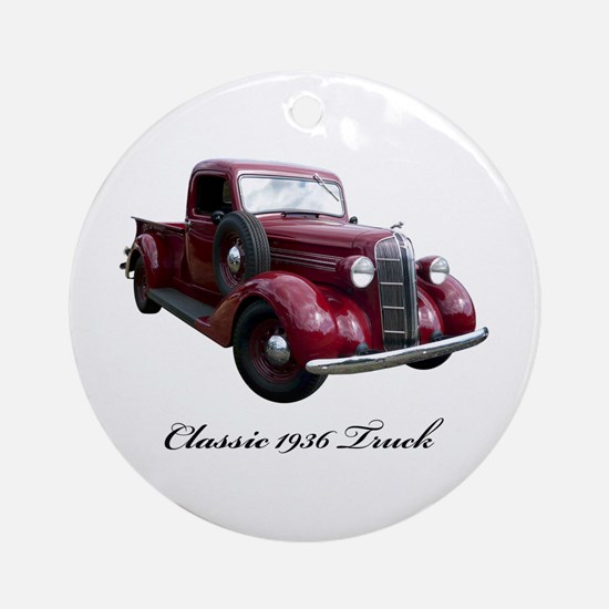 1936 Old Pickup Truck Ornament (Round)