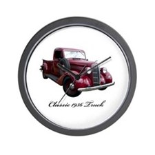 1936 Old Pickup Truck Wall Clock