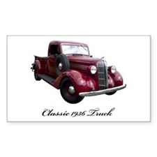 1936 Old Pickup Truck Decal