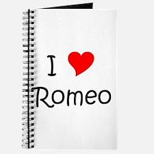 Unique I love romeo Journal