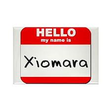 Hello my name is Xiomara Rectangle Magnet