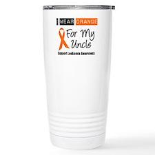Leukemia I Wear Orange Travel Mug