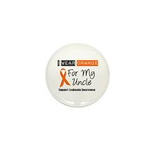 Leukemia I Wear Orange Mini Button (10 pack)
