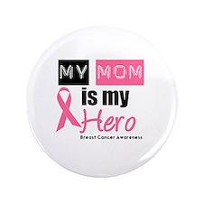 "Breast Cancer Hero 3.5"" Button"