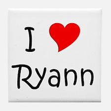 Cute I heart ryann Tile Coaster