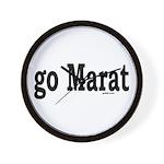 go Marat Wall Clock