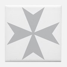 Silver Maltese Cross Tile Coaster