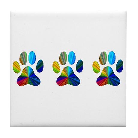 3 Paws Tile Coaster