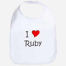 Cute Ruby Bib