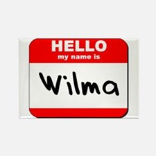 Hello my name is Wilma Rectangle Magnet