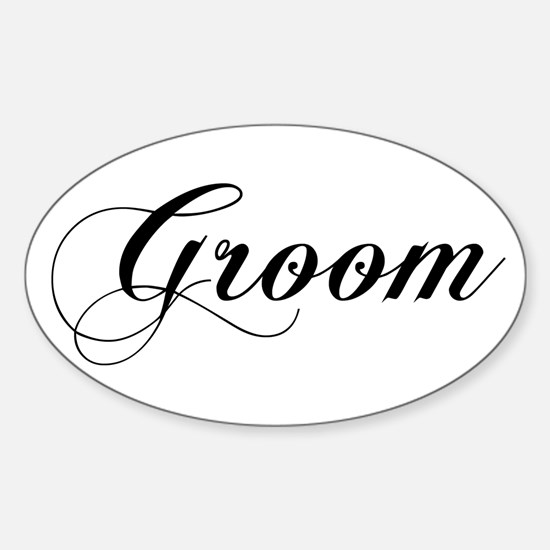 Groom Oval Decal