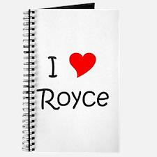 Unique Royce Journal
