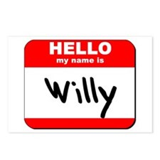 Hello my name is Willy Postcards (Package of 8)