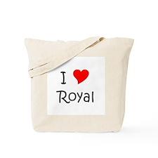 Unique I heart royal Tote Bag