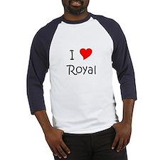 Cute I heart royal Baseball Jersey