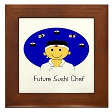 Future Sushi Chef Framed Tile
