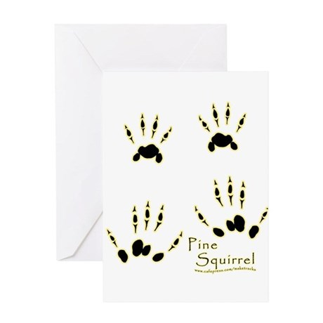 Pine Squirrel Track Design Greeting Card