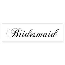Bridesmaid Bumper Car Sticker