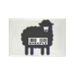 NEW Sheeple Rectangle Magnet